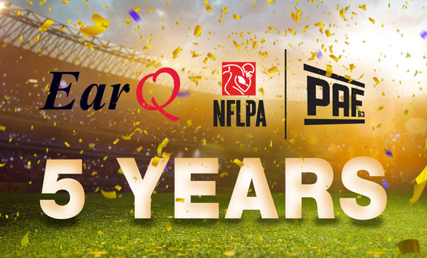 NFLPA and EarQ Celebrate 5 Year Partnership