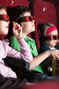 children in a movie theater