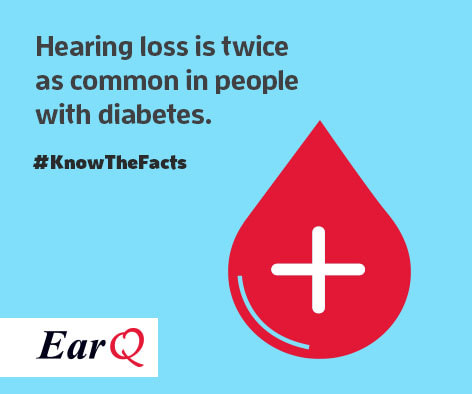 Hearing loss is twice as common in people with diabetes