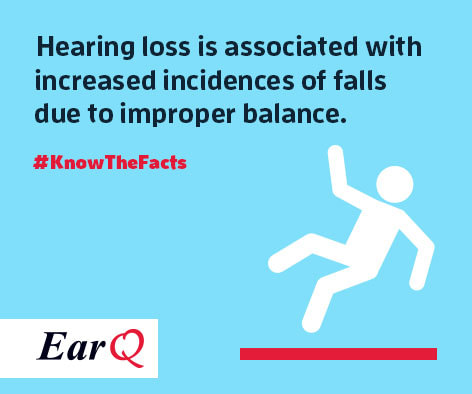 slips and falls from hearing loss
