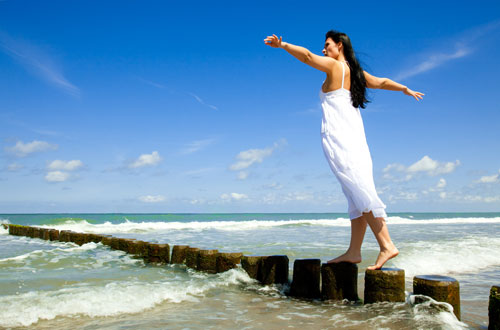 Balancing above water