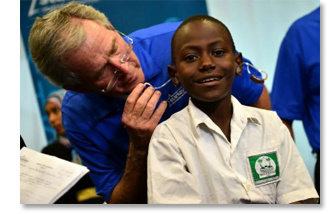 Former President George W. Bush Delivers the Gift of Hearing