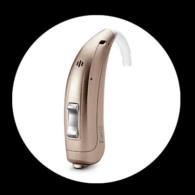 Gold EarQ hearing aid