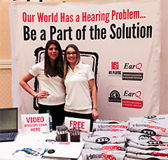 Rebecca Wantuck, Au.D. of Hearing Evaluation Services of Buffalo (left) and Brenna Besemer, of EarQ