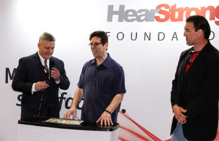 Ed Keller, president of EarQ and founder of the HearStrong Foundation, HearStrong Champion Sanford Freed, and HearStrong Ambassador Blaise Winter