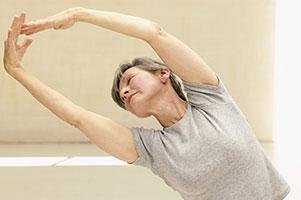 senior woman balancing